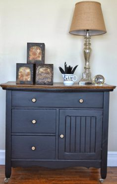 Shabby Love: Wash Stand Makeover In Miss Mustard Seedu0027s Typewriter Milk  Paint