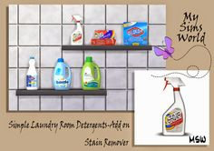 MySimsWorld: Simple Laundry Room Detergents_Add on...