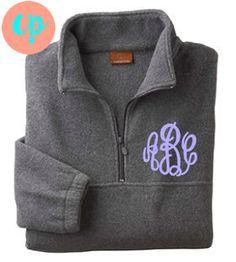 Monogram Fleece Pullover Jacket! Great for Teams, Bridesmaids, Weddings, Groups!
