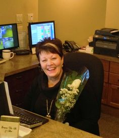 Our Guest Services rep, Edie received flowers today from a Guest for her unrivaled customer service! www.abbotsfordspa.ca