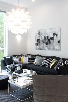 Seinäjoen asuntomessut ja Cubo - Kotini on helmeni Swedish Interior Design, Nordic Interior, Home Living Room, Living Area, Living Room Designs, Marimekko, Classic Furniture, Interior Inspiration, Decorating Your Home