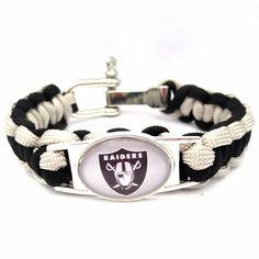 NFL Oakland Raiders Football Team Paracord Bracelet