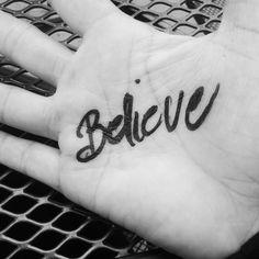 My Inspirational Script. She writes on her hands. Melissa Lynn