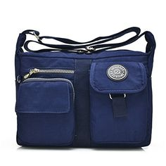 958039e0b71f TianHengYi Womens Multiple Pockets Design Nylon Crossbody Shoulder Bag  Casual Messenger Bag for Girls Navy