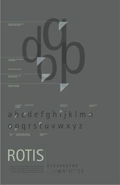 Font Study: Rotis by Allie Welch, via Behance