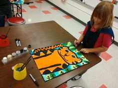 Art with Mrs. Seitz: Rousseau Tigers....in think I'll try this with my kinder art class...they'd love it...