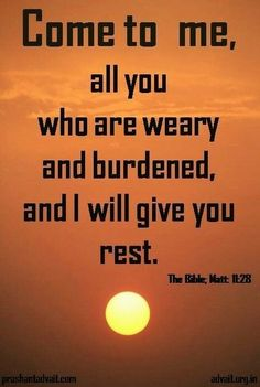Come to me, all you who are weary and burdened, and I will give you rest. ~ Bible #ShriPrashant #Advait #Bible #God #rest #burden #work #invitation #life #awareness Read at:- prashantadvait.com Watch at:- www.youtube.com/c/ShriPrashant Website:-www.advait.org.in Facebook:- www.facebook.com/prashant.advait LinkedIn:- www.linkedin.com/in/prashantadvait Twitter:- https://twitter.com/Prashant_Advait