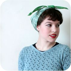 Vixen vintage: how to tie a 40s headscarf
