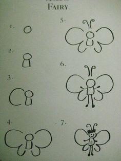 how to draw a fairy. easy