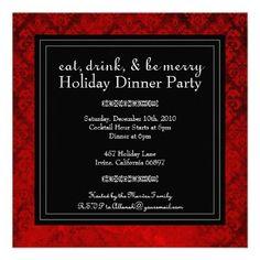Invitation idea for VIP cocktail party