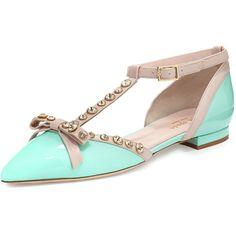 f0331a13684 kate spade new york becca jeweled t-strap ballerina flat ( 395) ❤ liked