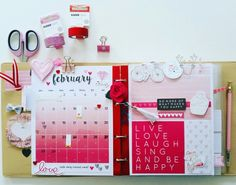 Kaisercraft : My Year My Story collection : February Journal Planner pages by Amanda Baldwin