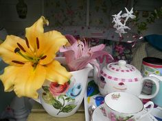 Sweet smelling exotic Lillies make tea time even more special