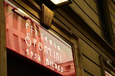 Pizzeria Spontini, one of the best pizza places in Milan. It's think and served by the slice.