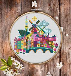 This is modern cross-stitch pattern of Amsterdam for instant download. A cool tip to decorate your living room. You will get 7-pages PDF file, which includes: - main picture for your reference; - colorful scheme for cross-stitch; - list of DMC thread colors (instruction and key section); - list of calculated thread length The size of the picture is 19.96 x 17.42 cm | 7.86 x 6.86 inches - 130 X 130 stitches on Aida 14 count It is a digital pattern and will be available to download when the… Modern Cross Stitch Patterns, Cross Patterns, Cross Stitch Designs, Embroidery Patterns, Cross Stitching, Cross Stitch Embroidery, Digital Pattern, Hama Beads, Etsy