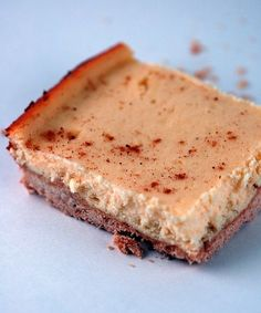 Egg Nog Cheesecake Bars