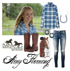 """""""Amber Marshall"""" by schuurmanator77 ❤ liked on Polyvore featuring beauty, rag & bone, Uniqlo, Tressa, Allurez and Ariat"""