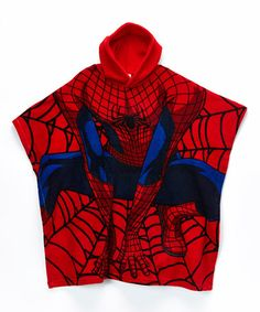 Look what I found on #zulily! Red Spider-Man Hooded Poncho - Boys #zulilyfinds
