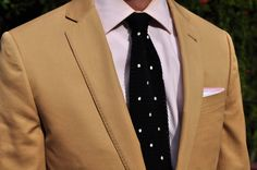 Love the polka dotted knit tie!