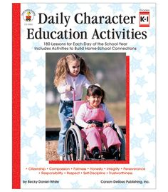 Guide students from young learners to more effective citizens with Daily Character Education Activities for students in kindergarten to grade 1. Each character trait chapter contains daily lessons, literature selections, skits and role plays, discussion questions, and reproducible activities.