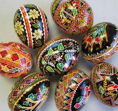 Beautiful pisanki (Polish Easter Eggs)