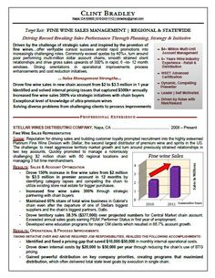 Sales executive resume sample - graphs, endorsements and breaking up information into bit size bits is really powerful.