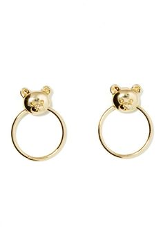 Me  Zena Bear In Mind Earrings