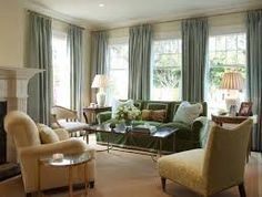 curtains for 3 windows close together - Google Search