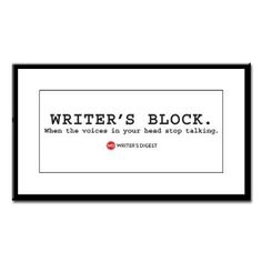 How do I get rid of writer's block?