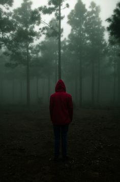 Little red riding hood.I love the contrast of the hoodie against the dark forest. Boy Photography Poses, Dark Photography, Story Inspiration, Character Inspiration, Viviane Sassen, Lunar Chronicles, Jolie Photo, Dark Beauty, Red Riding Hood