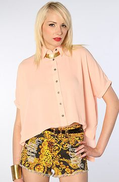 The Four Corners Shirt in Blush by MINKPINK