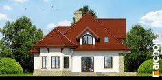 Projekt domu Dom pod juką 2 - ARCHON+ Modern House Design, Home Fashion, Cabin, Mansions, House Styles, Home Decor, Modern, Decoration Home, Manor Houses