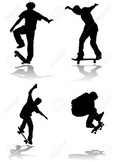 silhouette skateboarder - Google-søgning