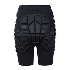 Padded Shorts - Soared Youth Men Adult 3D Protection Hip EVA Paded Short Pants Protective Gear Guard Pad Ski Skiing Skating Snowboard Black XL >>> You can find more details by visiting the image link.
