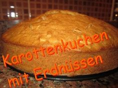 Karottenkuchen mit Erdnüssen - Rezept von Lila Kuchen Bread, Food, Purple Cakes, Bakken, Brot, Essen, Baking, Meals, Breads