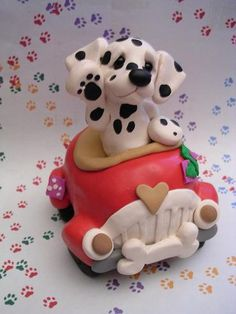 *CLAY ~ Dalmatian car by claykeepsakes, via Flickr