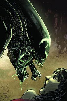 Aliens/Vampirella #2 (of 6) - Gabriel Hardman