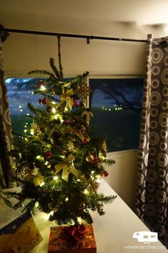 Decorating for Christmas in a small space? It is possible to have a tree in an RV!