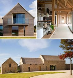 Check out the glazing and timber top left Architecture Details, Modern Architecture, Brick Construction, Farm Holidays, 21st Century Homes, House Goals, Beautiful Buildings, Modern Farmhouse, Building A House