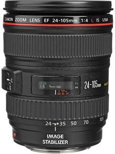 Canon EF 24-105 mm f/4 L Lens - www.usa.canon.com, www.bhphoto.com