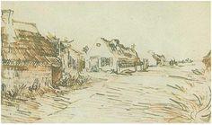 Vincent van Gogh Casitas de campo en Saintes-Maries Drawing …