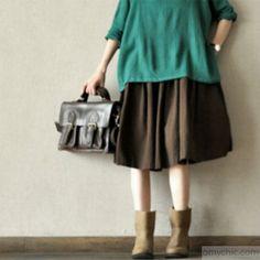 Summer cotton skirts casual loose oversize cotton linen skirts