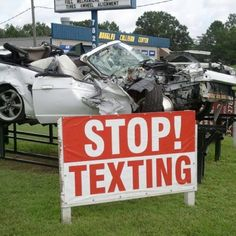 Stop Texting while driving!