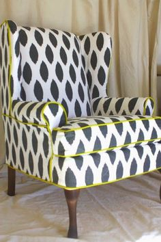 Favorite Pins of the Day: Reupholstered Chairs http://wp.me/p3NFw6-tg