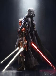 Darth Vader and Ahsoka Tano Have you seen this battle? it was amazing!