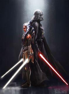 Darth Vader and Ahsoka Tano                                                                                                                                                      More