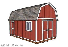 12x20 Gambrel Shed Plans | MyOutdoorPlans | Free Woodworking Plans and Projects, DIY Shed, Wooden Playhouse, Pergola, Bbq