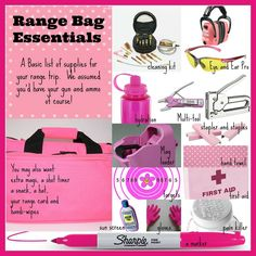 Range Bag Essentials - I need some of those cute pink flower targets!