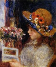 Young girl reading Pierre-Auguste Renoir (French, Oil on canvas. Städelsches Kunstinstitut, Frankfurt am Main, Germany. The works of Renoir's early maturity were typically Impressionist snapshots of real life, full of sparkling. Pierre Auguste Renoir, Edouard Manet, Reading Art, Girl Reading, Reading Books, Claude Monet, Städel Museum, August Renoir, Renoir Paintings
