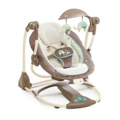 $90, amazon.com You probably never thought a noise-free swing was possible, but Sahara Burst's silent swing motion won't wake your snoozing baby. And batteries last three times as long, so you don't have to change them as often. This swing also folds flat for travel and converts to a bouncer seat.   - BestProducts.com